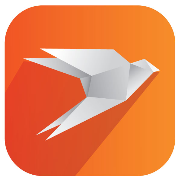 Orange themed Perfect app icon
