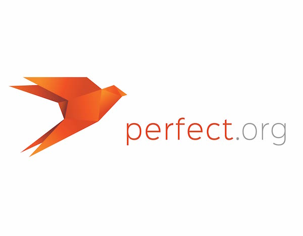 Orange themed Perfect logo
